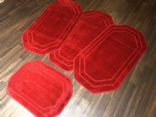 ROMANY WASHABLES NEW GYPSY SET OF 4PCS RED MATS NON SLIP TOURER SIZE BARGAINS
